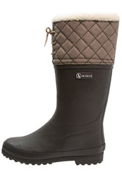 Aigle Polka Giboulee Wellies Brun Marron Brown