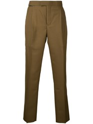 Toga Virilis Slim Fit Trousers Men Polyester Wool One Size Brown