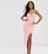 Bec And Bridge Exclusive Lea Split Midi Dress Pink