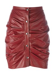 Etoile Isabel Marant A Toile 'July' Faux Leather Skirt Red
