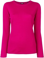 Aspesi Round Neck Sweater Pink And Purple