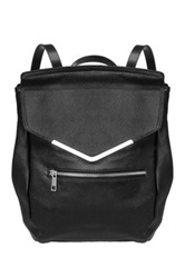Jane Ellen Tinsley Genuine Leather Backpack Black