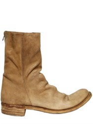 A Diciannoveventitre Zipped Crust Leather Boots