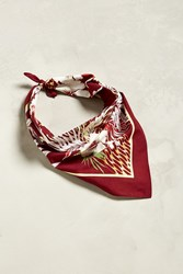 Urban Outfitters Uo Refined Floral Bandana Maroon