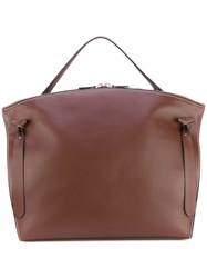 Jil Sander Large Hill Tote Women Calf Leather One Size Brown