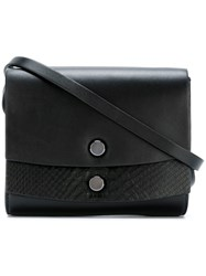 Desa 1972 Double Flaps Shoulder Bag Black