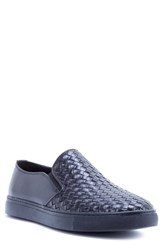 Zanzara Echo Ii Woven Slip On Sneaker Black Leather