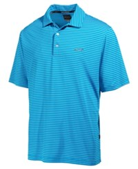 Greg Norman For Tasso Elba Men's 5 Iron Striped Performance Polo Only At Macy's Turquoise
