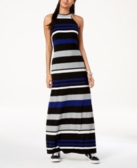Emerald Sundae Juniors' Striped Maxi Dress Blue Combo
