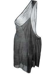 Lost And Found One Shoulder Deconstructed Top Grey