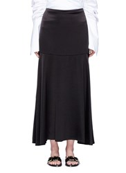 Georgia Alice 'Circle Cult' Crepe Back Satin Skirt Black