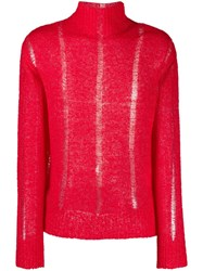 Our Legacy Open Knit Jumper Red