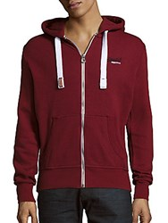 Superdry Orange Label Zip Up Hoodie Red