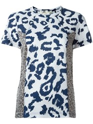 Comme Des Gara Ons Animal Print T Shirt White