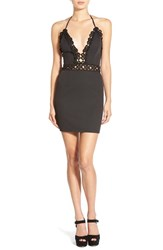 Women's Missguided Crochet Halter Body Con Dress
