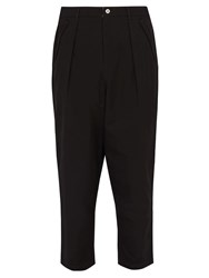 Pam Research Sade Cotton Twill Trousers Black