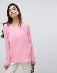 Soaked In Luxury Pleated Blouse Prism Pink