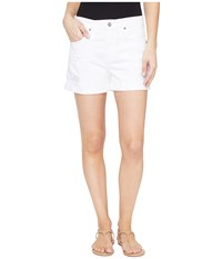 Ag Adriano Goldschmied Hailey Boyfriend Shorts In White Terrain White Terrain Women's Shorts