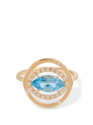 Susan Foster Diamond Topaz And Yellow Gold Ring