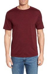 Ibex Men's Regular Fit Overdyed Merino Wool T Shirt Claret Heather