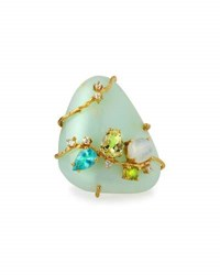 Indulgems Multi Gemstone Cocktail Ring Green