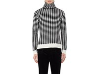Haider Ackermann Men's Houndstooth Wool Cashmere Sweater Black White No Color