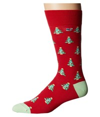 Vineyard Vines Christmas Tree Pima Cotton Lighthouse Red Men's Crew Cut Socks Shoes