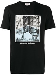 Alexander Mcqueen Photo Print T Shirt Black