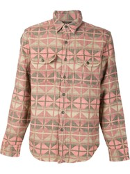 Rrl Aztec Woven Shirt Pink And Purple