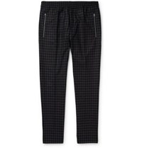 Stella Mccartney Piet Slim Fit Tapered Checked Wool Trousers Charcoal