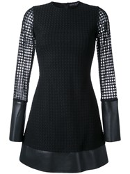 David Koma Lace Layer Mini Dress Black