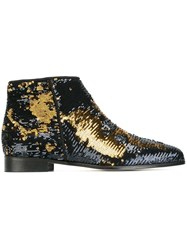 Anna Baiguera 'Blazing Wave' Sequinned Ankle Boots Black