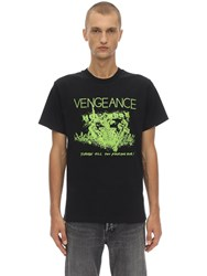 Nasaseasons Vengeance Printed Cotton T Shirt Black