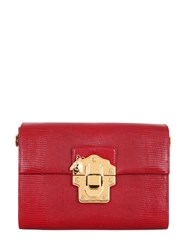 Dolce And Gabbana Lucia Embossed Leather Shoulder Bag