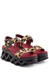 Marc By Marc Jacobs Haircalf Ninja Strass Wave Sandals Animal Prints