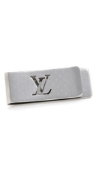 Wgaca Vintage Louis Vuitton Silver Monogram Money Clip