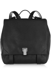 Proenza Schouler Woman Courier Textured Leather Backpack Black