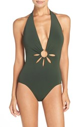 Robin Piccone Women's Halter One Piece Swimsuit