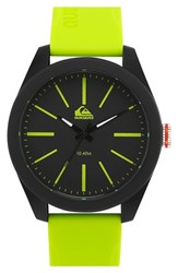 Men's Quiksilver 'The Young Gun' Silicone Strap Watch 42Mm