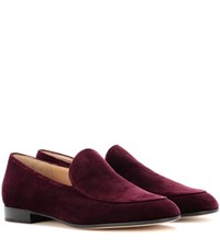 Gianvito Rossi Marcel Velvet Loafers Purple