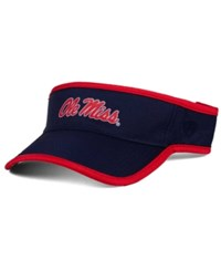 Top Of The World Ole Miss Rebels Baked Visor Navy