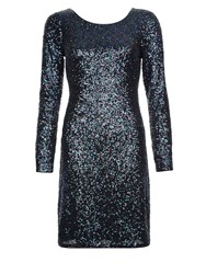 Monsoon Stacey Sequin Dress Multi Coloured Multi Coloured