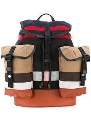 Burberry Striped Backpack