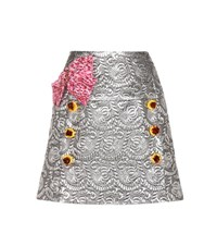 Dolce And Gabbana Jacquard Skirt Silver