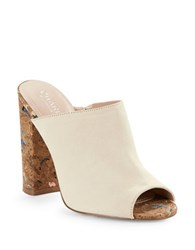 Charles By Charles David Gansevoort Suede Mules Natural