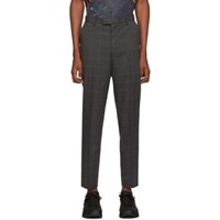 Saturdays Surf Nyc Black And Blue Plaid Leon Trousers