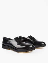 Adieu Black Leather Type 78 Derby Shoes