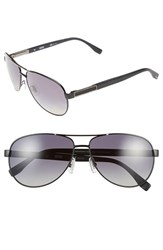 Men's Boss 62Mm Polarized Aviator Sunglasses Matte Black Ruthenium Grey