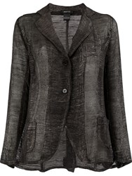 Avant Toi Sheer Knit Blazer Black