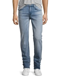 7 For All Mankind Luxe Performance Slimmy Slim Jeans Sundrenched Light Blue